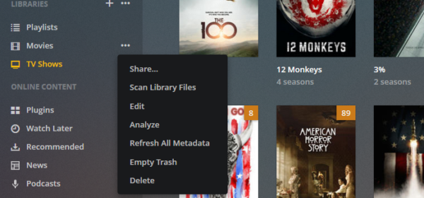 How to scan Plex media from Command Line